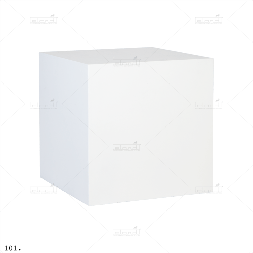 Cube 40 White ◇ Rent a pedestal at ✷ Eland® ✷