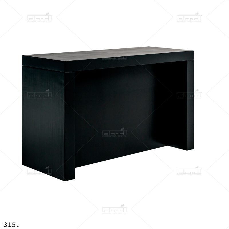 Eland® Table-U 180 Debout Buffet Noir