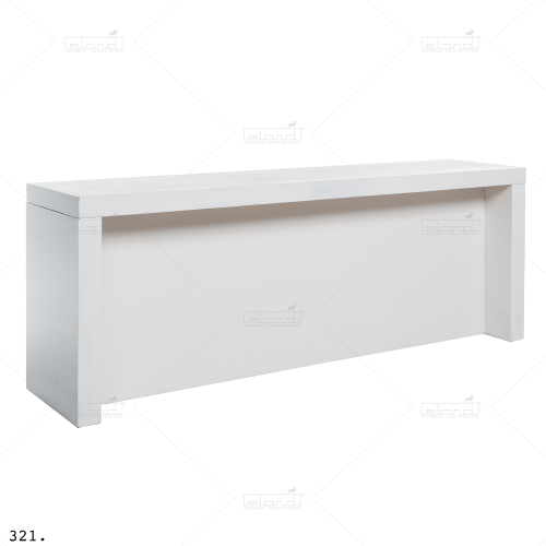 U-Table 300 Standing Buffet White ◇ Rent a table at ✷ Eland® ✷