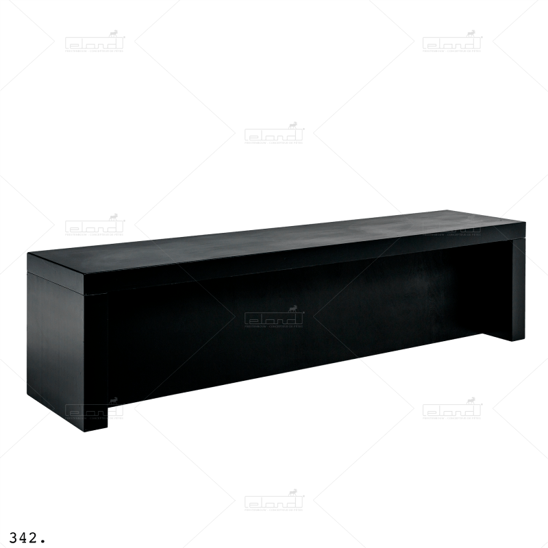 Eland® U-Table 300 Diner Buffet Black