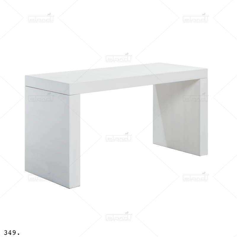 Eland® U-Table 180 Half High White