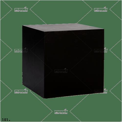 Cube 40 Black ◇ Rent a pedestal at ✷ Eland® ✷