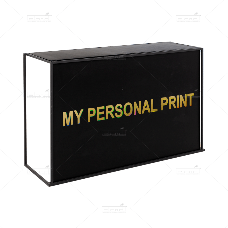 Eland® Stackabar Black with Personalized Print (Sale)