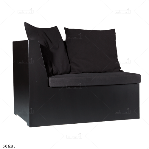 Bench Kubide Left 130 Black ⎜ Buy a sofa at Eland®